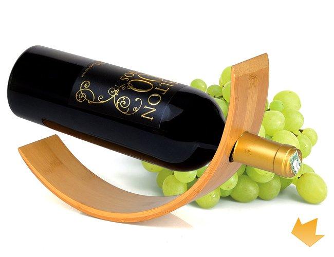 Suporte para Garrafa de Vinho em Bambu Personalizado